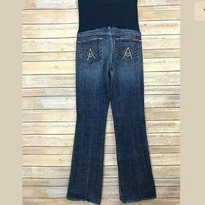 7 For All Mankind Maternity Jeans Pea in a Pod 29